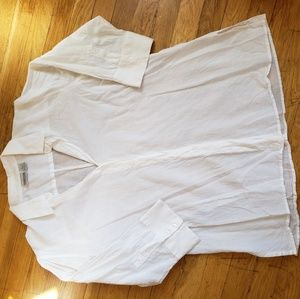 Chico's White Buttoned Tunic Blouse